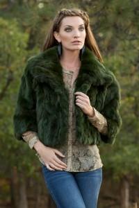 Adrienne-Landau-Emerald-Green-Rabbit-Fur-Jacket