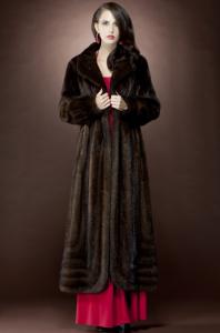 Mary Mc Fadden Mahogany Mink Fur Coat